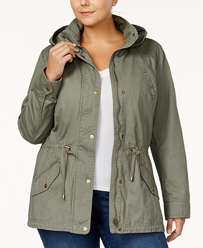 Style & Co Plus Size Twill Utility Jacket, Created for Macy's
