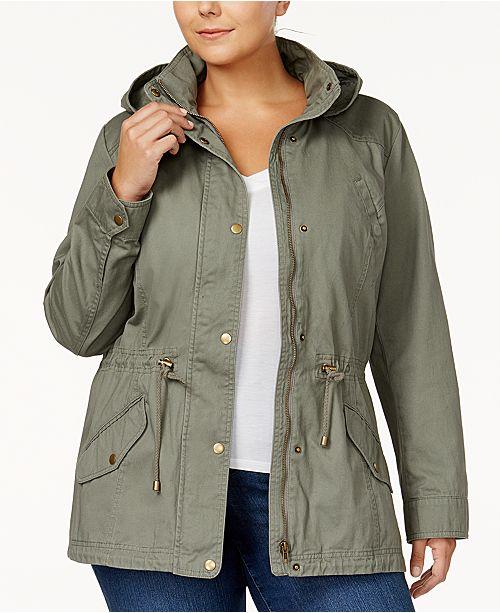 2fa376f1efd ... Style   Co Plus Size Twill Utility Jacket