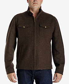 London Fog Men's Big & Tall Stretch Wool Jacket