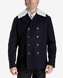 Michael Kors Men's Fleece-Collar Pea Coat