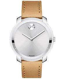 Movado Women's Swiss Bold Vachetta Leather Strap Watch 36mm