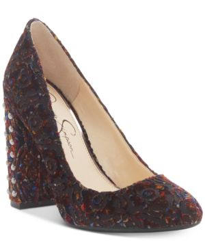 Jessica Simpson Bainer Block-Heel Pumps Women
