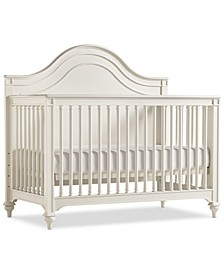 Genevieve Kids 4-In-1 Convertible Crib, (Convertible Crib, Bed Rails, Slat Roll & Footboard)