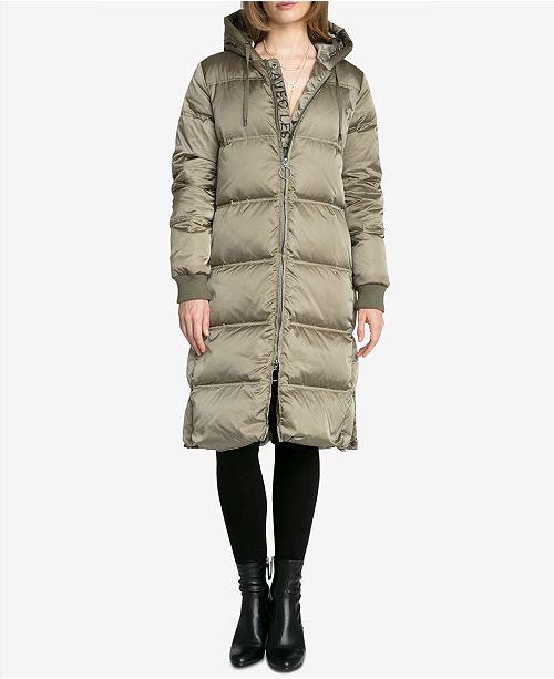 92d1c6b47d9 Avec Les Filles Logo Long Down Puffer Coat   Reviews - Coats ...