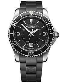 Victorinox Swiss Army Men's Maverick Black Rubber Strap Watch 43mm