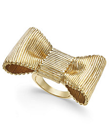 kate spade new york Gold-Tone Bow Statement Ring