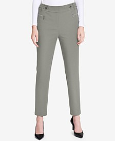 Zip-Pocket Straight-Leg Pants