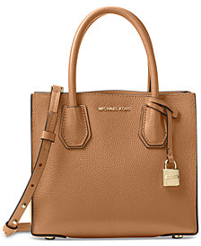 MICHAEL Michael Kors Studio Mercer Medium Bonded-Leather Crossbody