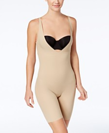 20785f3532f0f Maidenform Women s Firm Tummy-Control Instant Slimmer Long Leg Open Bust Body  Shaper 2556