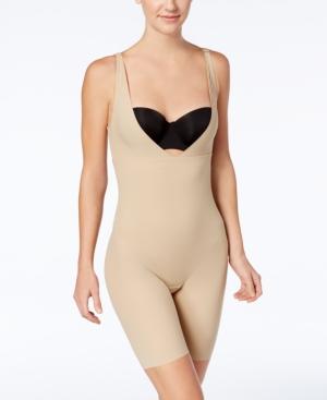 Women's Firm Tummy-Control Instant Slimmer Long Leg Open Bust Body Shaper 2556
