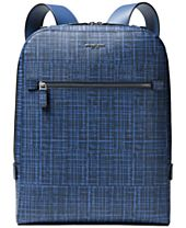 Michael Kors Men's Printed Leather Backpack