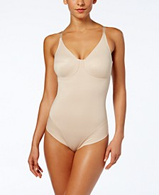 Women's  Extra Firm Tummy-Control Molded Cup Comfort Leg Bodysuit 2802