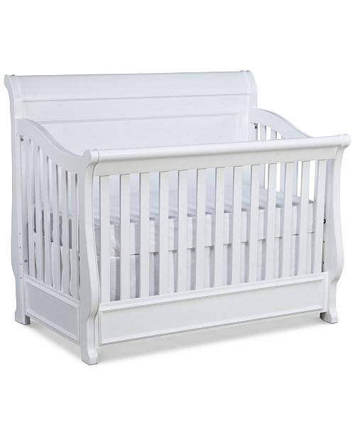 Furniture Roseville 4-In-1 Convertible Baby Crib, (Convertible Baby Crib, Toddler Daybed & Guard Rail, Bed Rails & Slat Roll)