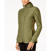 The North Face Pseudio Insulated Knit Jacket (Burnt Olive / Dark Grey)