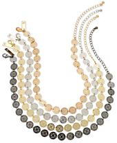 I.N.C. Multi-Tone 4-Pc. Set Beaded Choker Necklaces, Created for Macy's
