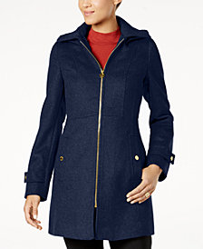 MICHAEL Michael Kors Plus Size Zip-Front Walker Coat
