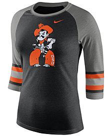 Nike Women's Oklahoma State Cowboys Team Stripe Logo Raglan T-Shirt