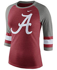 Nike Women's Alabama Crimson Tide Team Stripe Logo Raglan T-Shirt