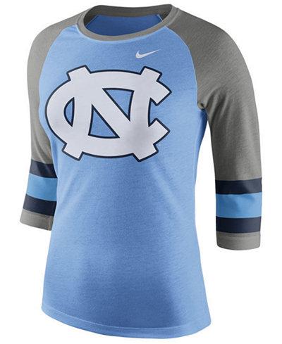 Nike Women's North Carolina Tar Heels Team Stripe Logo Raglan T-Shirt X044FPHB