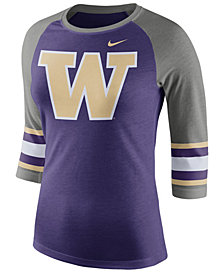 Nike Women's Washington Huskies Team Stripe Logo Raglan T-Shirt