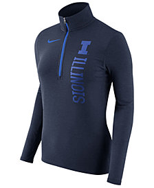 Nike Women's Illinois Fighting Illini Stadium Element Quarter-Zip Pullover