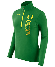 Nike Women's Oregon Ducks Stadium Element Quarter-Zip Pullover
