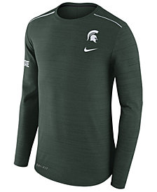 Nike Men's Michigan State Spartans Dri-Fit Breathe Long Sleeve T-Shirt
