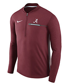 Nike Men's Alabama Crimson Tide Coaches Quarter-Zip Pullover