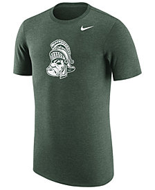 Nike Men's Michigan State Spartans Vault Logo Tri-Blend T-Shirt