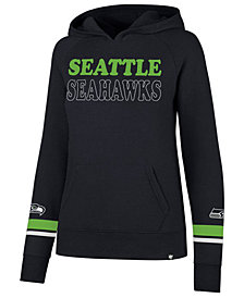 '47 Brand Women's Seattle Seahawks Throwback Hooded Sweatshirt
