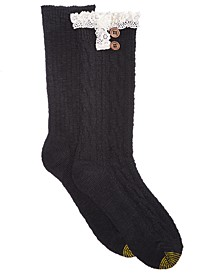 Women's 2-Pk. Cable Buttons Boot Socks