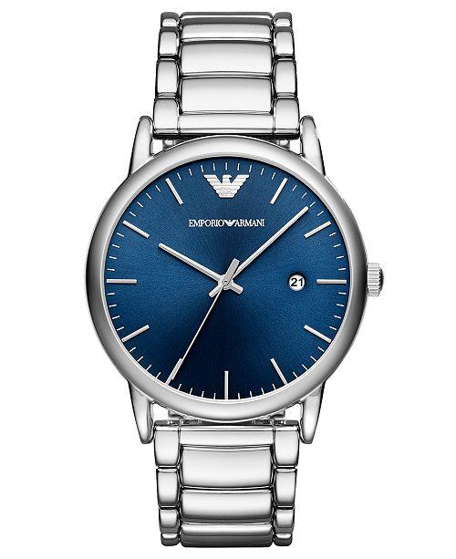 Emporio Armani Men's Luigi Stainless Steel Bracelet Watch 43mm
