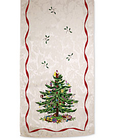 "Spode Christmas Tree 108"" Runner, Created for Macy's"