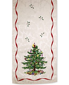 "CLOSEOUT! Spode   Christmas Tree 108"" Runner, Created for Macy's"