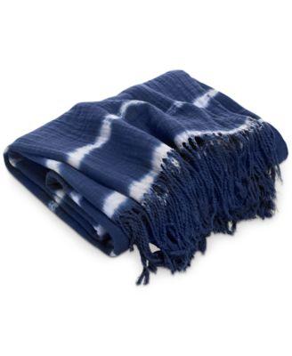 Shibori Hand Tie-Dye Throw, Created for Macy's