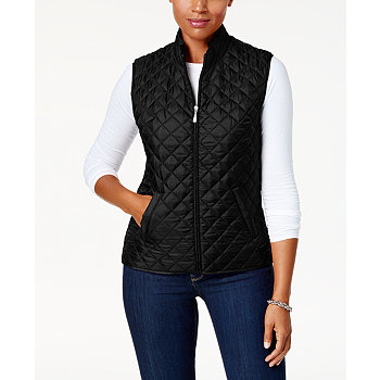 Karen Scott Quilted Puffer Vest (Multi Color)