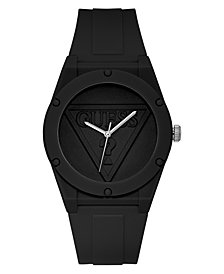 GUESS  Iconic Logo Black Silicone Strap Watch 42mm