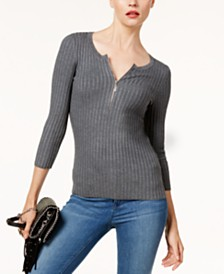 I.N.C. Zip-Front Sweater, Created for Macy's