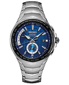 Seiko Men's Solar Coutura Radio Sync Stainless Steel Bracelet Watch 45mm
