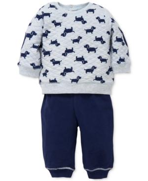 Little Me 2Pc PuppyPrint Sweatshirt  Pants Set Baby Boys (024 months)