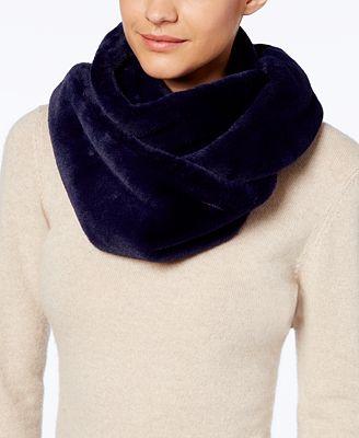 Calvin Klein Faux Fur Infinity Scarf