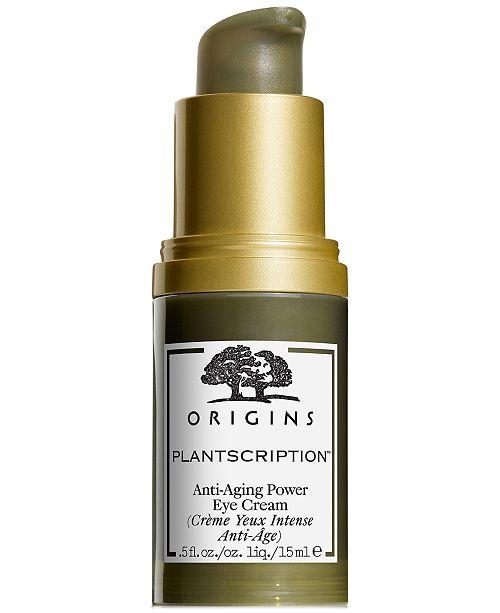 Origins Plantscription Anti-aging Power Eye Cream, 0.5 oz