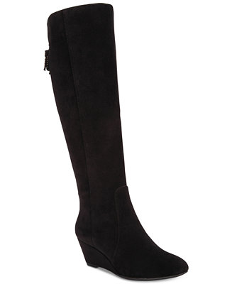 a54bea5d464 Anne Klein Azriel Tall Wedge Boots   Reviews - Boots - Shoes - Macy s
