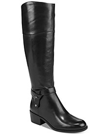 Alfani Women's Berniee Step 'N Flex Wide-Calf Riding Boots, Created for Macy's