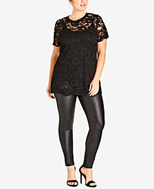 City Chic Trendy Plus Size Lace Top
