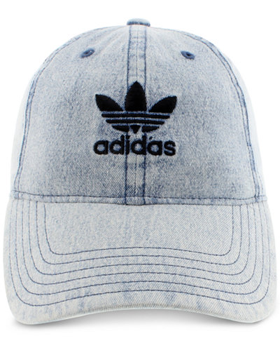 adidas Originals Cotton Relaxed Washed Strap-Back Hat