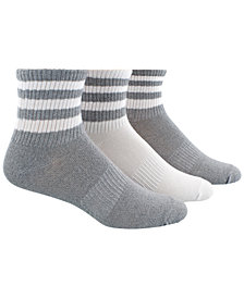 adidas Women's  Originals 3-Pk. Striped Ankle Socks
