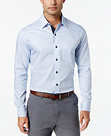 Tasso Elba Long Sleeve Stripe Shirt, Created for Macy's
