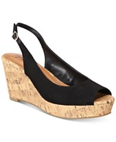 acde381c0 Style & Co Sondire Platform Wedge Sandals, Created for Macy's