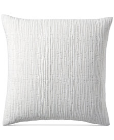 "Hotel Collection Brushstroke Quilted 22"" Square Decorative Pillow, Created for Macy's"